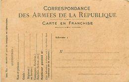 A-17.7081 :  CORRESPONDANCE DES ARMEES. CARTE FRANCHISE MILITAIRE. - Marcofilia (sobres)