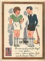 PUBLICITE LEVURE ALSACIENNE ALSA ILLUSTRE PAR LEROY - Publicidad