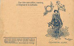 A-17.7086 :  CORRESPONDANCE DES ARMEES. CARTE FRANCHISE MILITAIRE. CHASSEUR ALPIN - Marcophilie (Lettres)