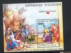 Togo BF 277 1989 La Révolution Française Philexfrance Neuf **TB  Mnh Cote 13.25 - Togo (1960-...)