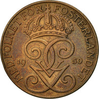 Suède, Gustaf V, 5 Öre, 1950, TTB+, Bronze, KM:779.2 - Suède