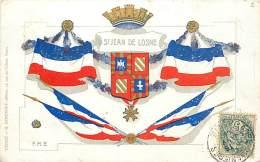 SAINT JEAN DE LOSNE BLASON ET DRAPEAUX - Francia