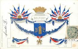BELFORT CARTE BLASON ET DRAPEAUX - Belfort - Città