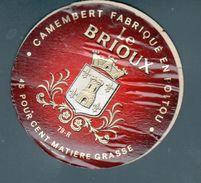 ETIQUETTE CAMEMBERT LE BRIOUX - Fromage
