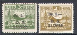 3049 Post Telegraph Communication Optd. 1955 Bolivia 2v Set MNH ** 2,2ME - Post