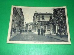 Cartolina Rieti - Via Garibaldi 1940 Ca - Rieti