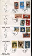 23256 Cyprus, 4 Fdc 21.11.1966, Set Of  14 Stamps Mythology, Mythologie, - Mitologia
