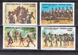 Togo PA 544 547 Danses Togolaise  Neuf **TB  Mnh Cote Timbres 11.5 - Togo (1960-...)