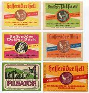 DDR - Hasseröder - Wörlitz - Magdeburg - Salzwedel - Frankfurt Oder - 10 Originale Alte Bieretiketten - Birra