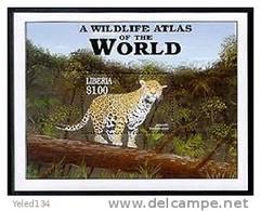 LIBERIA  2182  MINT NEVER HINGED SOUVENIR SHEET OF ANIMALS ; JAGUAR ( 0305 - Postzegels