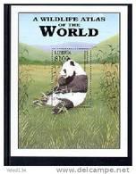 LIBERIA  2185  MINT NEVER HINGED SOUVENIR SHEET OF ANIMALS  ; GIANT PANDA (0425 - Postzegels