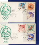 LIBAN -12-1-1961 - Olympic Set On 2 F.D.C. - Libano