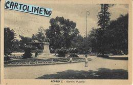 Calabria-reggio Calabria Citta' Giardini Pubblici Veduta Bambini Che Giocano Monumento Primi Anni 40 - Reggio Calabria