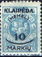 PIA - MEMEL - 1923 - Occupazione Lituana - Francobollo Di Servizio Della Lituania Sovrastampato -  (Yv 102) - Autres - Europe