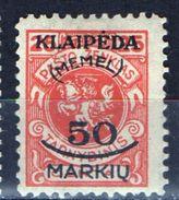 PIA - MEMEL - 1923 - Occupazione Lituana - Francobollo Di Servizio Della Lituania Sovrastampato -  (Yv 104) - Autres - Europe