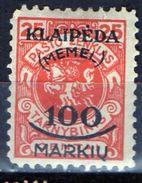 PIA - MEMEL - 1923 - Occupazione Lituana - Francobollo Di Servizio Della Lituania Sovrastampato -  (Yv 105) - Autres - Europe