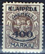 PIA - MEMEL - 1923 - Occupazione Lituana - Francobollo Di Servizio Della Lituania Sovrastampato -  (Yv 106) - Autres - Europe