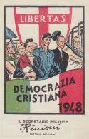 1948 DEMOCRAZIA CRISTIANA Tessera Iscrizione Sezione Di Palazzolo (Verona) - 1946-60: Storia Postale