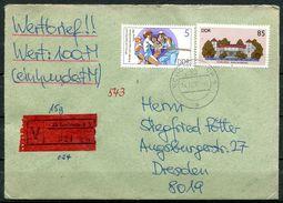 """DDR,GDR 1987 Wert Bedarfsbrief/Cover Mit Mi.Nr.3034 MiF""""Schönebeck/Elbe-Dresden"""" 1 Beleg - [6] République Démocratique"""