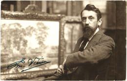 Emanuel Vièrin - Kortrijk - Schilder - Autograph Signature - & Portrait - Belgio