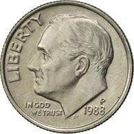 États-Unis, Roosevelt Dime, Dime, 1988, U.S. Mint, Philadelphia, SUP - Émissions Fédérales