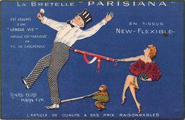 "D6087 ""LA BRETELLE PARISIANA - EN TISSUS NEW-FLEXIBLE "" ANIMATA.  CART NON SPED - Commercio"