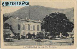 Toscana-livorno-portoferraio Villa Napoleonica Veduta Animata Anni 30 - Italia