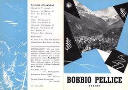 """06090 """"PIEGHEVOLE PUBBLICITARIO - DEPLIANT TURISTICO - BOBBIO PELLICE - TORINO"""" ORIGINALE 1961 - Dépliants Turistici"""