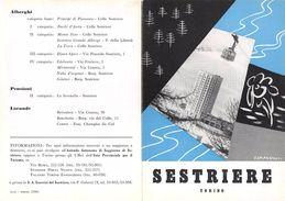 """06092 """"PIEGHEVOLE PUBBLICITARIO - DEPLIANT TURISTICO - SESTRIERE - TORINO"""" ORIGINALE 1961 - Dépliants Turistici"""