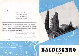 """06095 """"PIEGHEVOLE PUBBLICITARIO - DEPLIANT  TURISTICO - BALDISSERO - TORINO"""" ORIGINALE 1961 - Dépliants Turistici"""