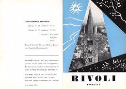 """06096 """"PIEGHEVOLE PUBBLICITARIO - DEPLIANT  TURISTICO - RIVOLI - TORINO"""" ORIGINALE 1961 - Dépliants Turistici"""