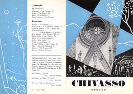 """06104 """"PIEGHEVOLE PUBBLICITARIO - DEPLIANT  TURISTICO - CHIAVASSO - TORINO"""" ORIGINALE 1961 - Dépliants Turistici"""