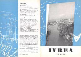 """06106 """"PIEGHEVOLE PUBBLICITARIO - DEPLIANT TURISTICO - IVREA - TORINO"""" ORIGINALE 1961 - Dépliants Turistici"""
