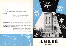 """06107 """"PIEGHEVOLE PUBBLICITARIO - DEPLIANT TURISTICO - AGLIE' - TORINO"""" ORIGINALE 1961 - Dépliants Turistici"""