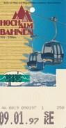 Österreich Rauris Seilbahnkarte (= Eintrittskarte) 1997 Hochalmbahnen Kabinenbahn - Transporttickets