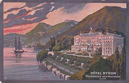 Villeneuve - Hotel Byron - Carte Pubbl. - 1920       (P-61-50108) - VD Vaud