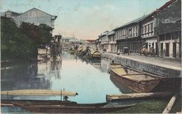AK Manila Estero Sibacong Puerto Port Harbour Hafen Philippinen Philippines Filipinas Asie USA Stamp Timbre Briefmarke - Filipinas