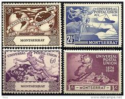 MONTSERRAT UPU 75 YEARS AIRPLANE SHIP SET OF 4 MINTHD 1949 SG117-20 READ DESCRIPTION !! - Montserrat