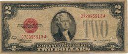 UNITED STATES 2 DOLLARS 1928D P-378d F/VF SIGN. JULIAN & MORGENTHAU [US378d] - Billetes De Estados Unidos (1928-1953)