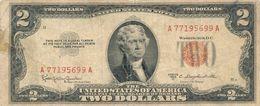UNITED STATES 2 DOLLARS 1953C P-380c G WITH TEAR S/N A77195699A [US380c] - Billetes De Estados Unidos (1928-1953)