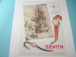 ANCIENNE PUBLICITE MONTRE ZENITH UN GRAND NOM 1951 - Autres