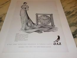 ANCIENNE PUBLICITE PENDULE EMPIC DE JAZ 1951 - Autres