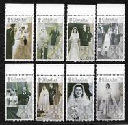 GIBRALTAR 2017 QE Ll  70TH WEDDING ANNIV SET MNH - Gibraltar