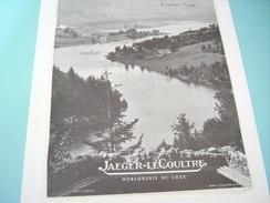 ANCIENNE PUBLICITE MONTRE COMME L EAU LES HEURES COULENT JAEGER LECOULTRE 1949 - Autres