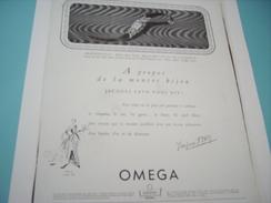 ANCIENNE PUBLICITE MONTRE OMEGA 1949 - Autres