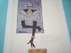 ANCIENNE PUBLICITE JOAILLIER BOUCHERON 1951 - Bijoux & Horlogerie