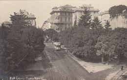 Genova - Piazza Manin Con Tram - Cartolina Foto       (A-46-120607) - Tramways