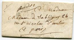SEINE ET OISE De MONTFERMEIL LAC Du 26/11/1844 Avec Dateur T11 De LIVRY + Cachet P.P. Rouge - 1801-1848: Précurseurs XIX