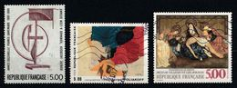 France 1988 : Timbres Yvert & Tellier N° 2551 - 2554 Et 2558 Avec Oblitération Mécanique - Used Stamps