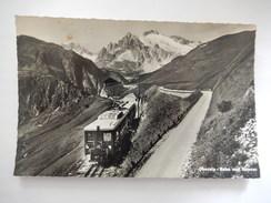 CPSM  - OBERALP - BAHN UND STRASSE - (Le Train Et La Route Au Col De L'Oberalp) - TRAIN - PHOTO VERITABLE - R3318 - Trains